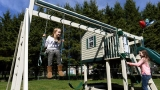 Bangor girl with rare medical condition gets dream swing set