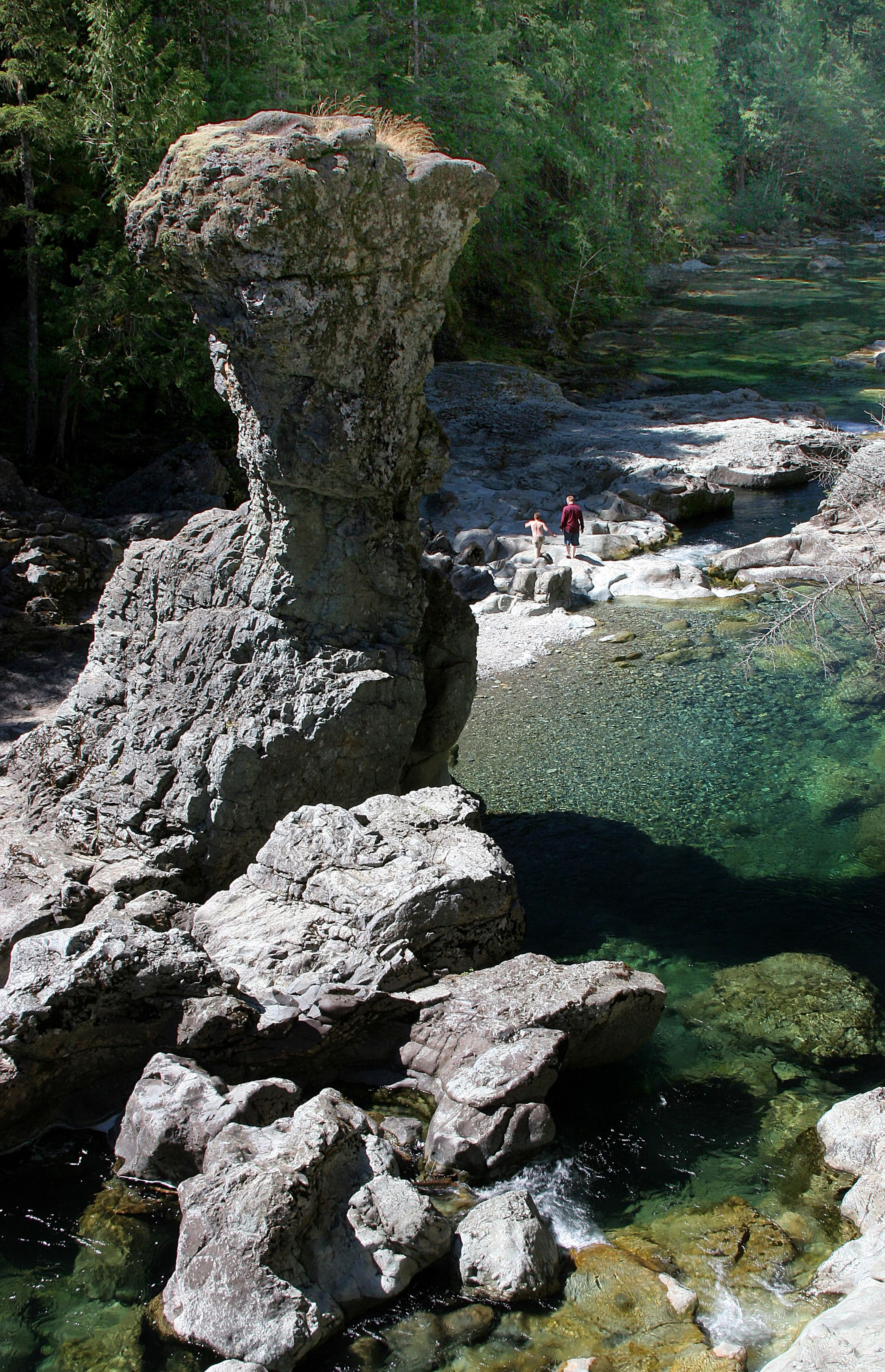 Hiking in the Three Pools area in the Opal Creek Wilderness (USDA Forest Service)