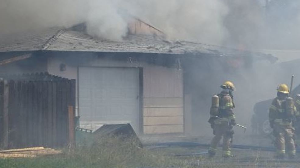Two alarm house fire in Klamath Falls sends one to the