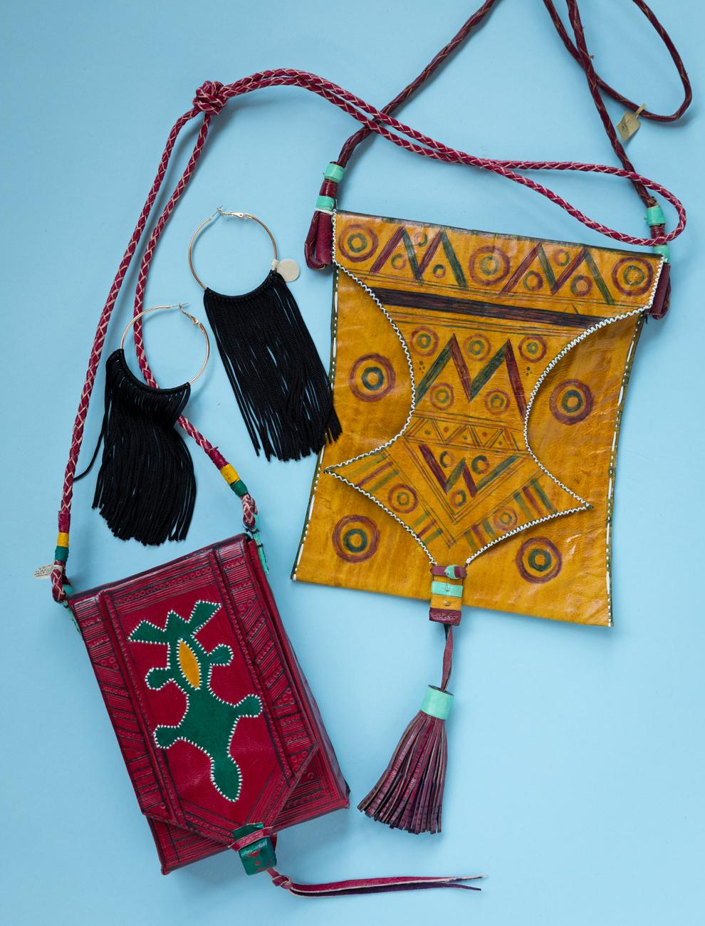 African purses and modern jewelry / Image: Marlene Rounds // Published: 9.30.18