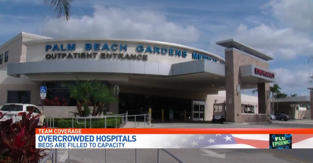 Palm Beach Garden Medical Center Sees Overflow From Flu Patients. (WPEC)