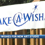 Teen uses wish to build new art studio