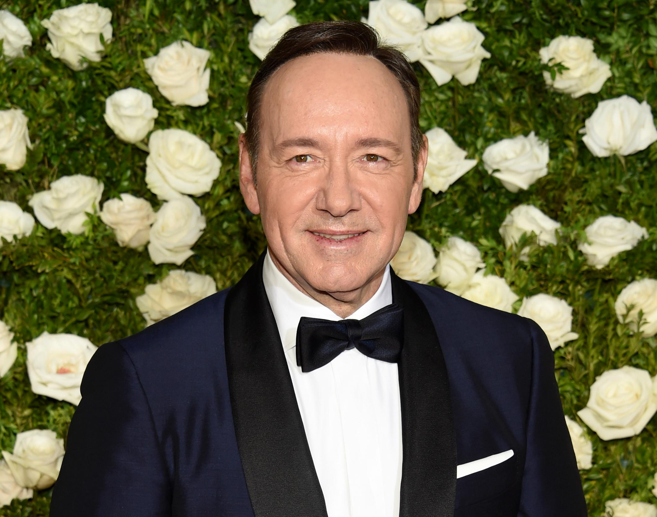 "FILE - In this June 11, 2017 file photo, Kevin Spacey arrives at the 71st annual Tony Awards at Radio City Music Hall in New York. Spacey is accused of sexual misconduct or assault by at least 24 men. London police are reportedly investigating a sexual assault. He was fired from ""House of Cards"" and replaced in Ridley Scott's completed film ""All the Money in the World."" His former publicist has said he is seeking unspecified treatment. (Photo by Evan Agostini/Invision/AP, File)"
