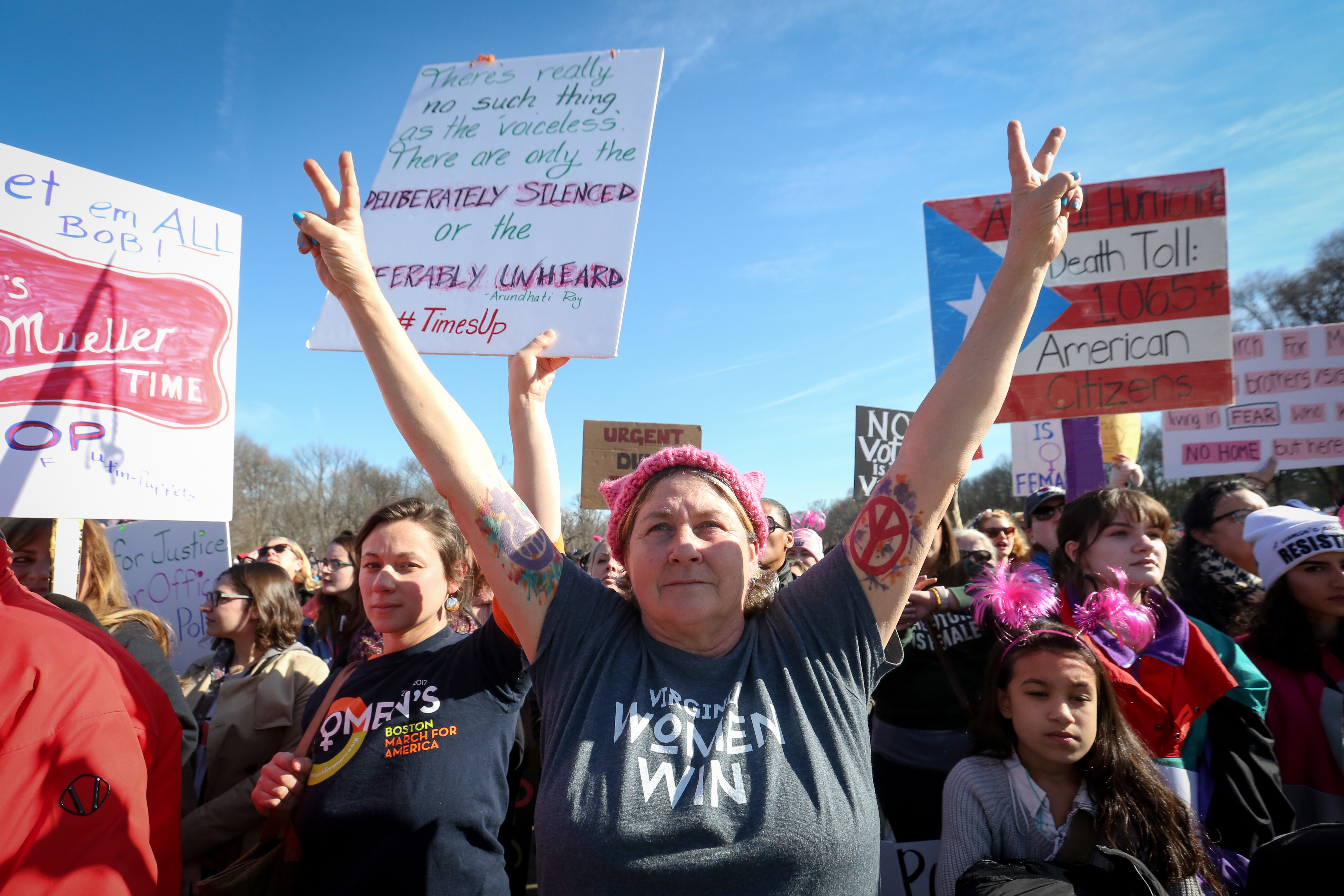 The women's march of 2018 drew thousands in January.{ }{ }(Amanda Andrade-Rhoades/DC Refined)