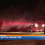 Crews battle overnight garage fire in Gobles