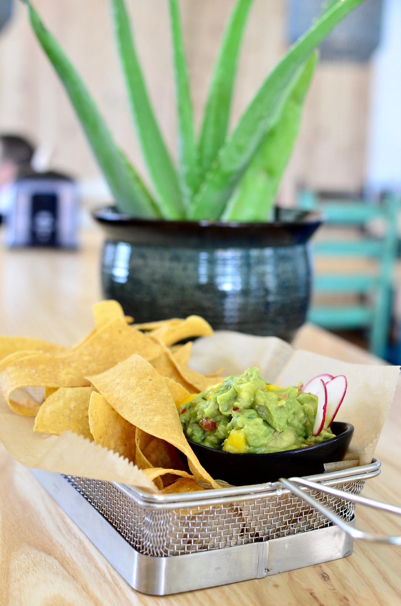 Tahona Guacamole: avocado, tomato, cilantro, red onion, jalapeño, fresh lime juice, fresh tortilla chips / Image: Leah Zipperstein, Cincinnati Refined // Published: 5.13.17