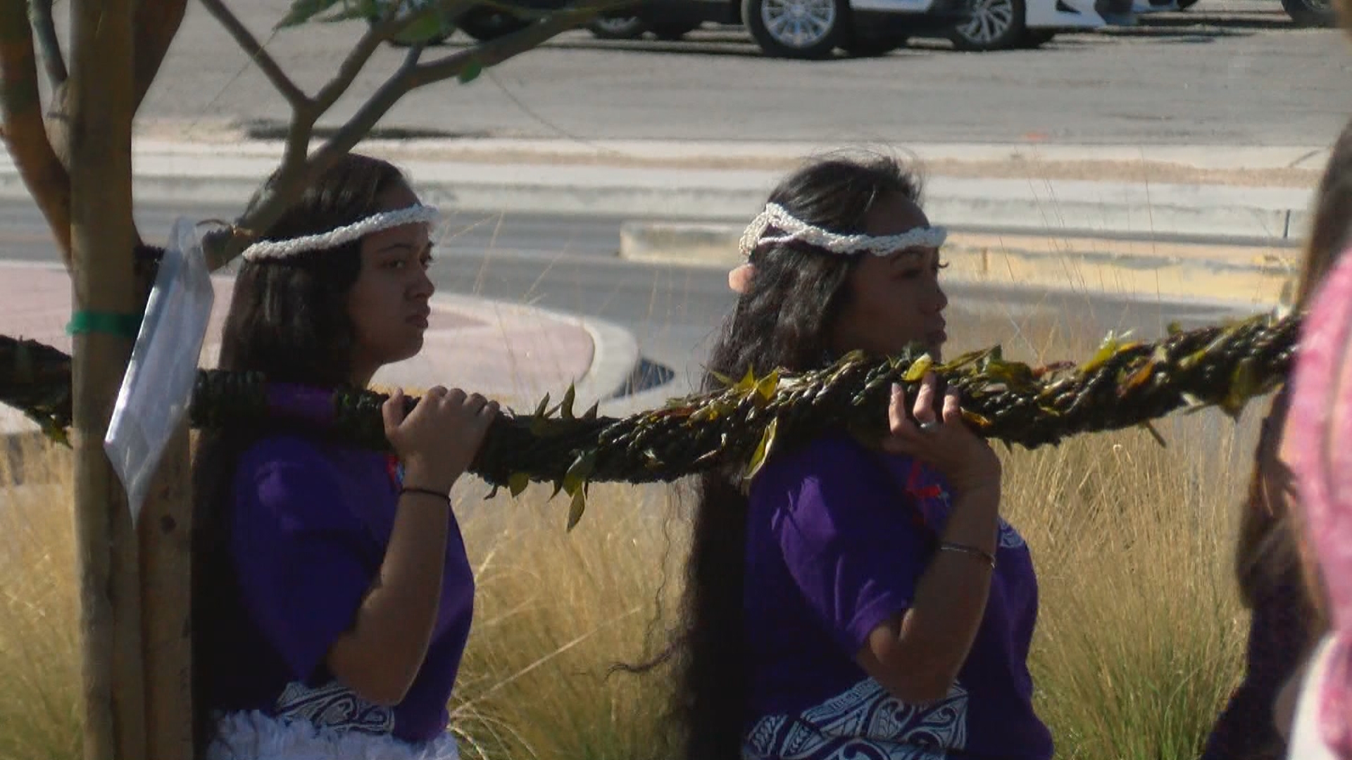 A group of Hawaiians who now make their homes in Las Vegas or still live in the islands have brought the city's people a special lei braided with leaves from a sacred plant in a gesture they hope will bring peace and healing after the deadliest mass shooting in modern U.S. history. (KSNV)