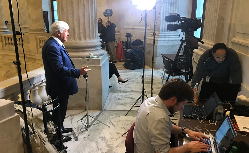 Live: Rep. Rob Bishop speaks with KUTV's Heidi Hatch (Photo: Heidi Hatch/ KUTV){&amp;nbsp;}<p></p>
