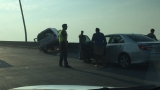 SUV in unstable position stopped traffic on Ravenel Bridge