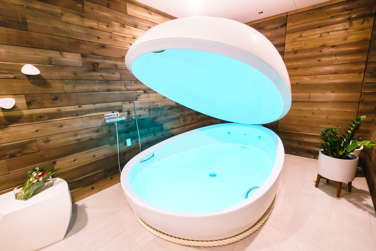 Experience weightless bliss via floating at Soulex, D.C.'s first float spa. (Image: Courtesy Soulex)