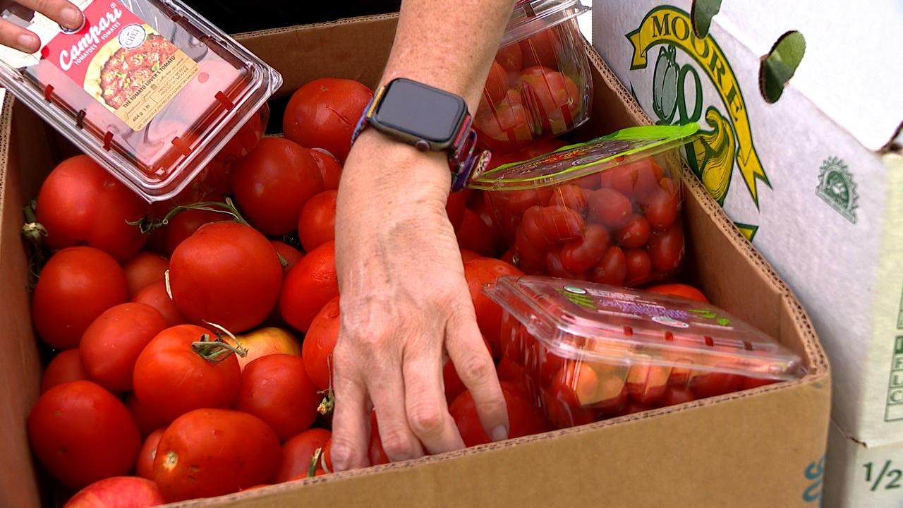 Produce at one of MANNA's Mobile Markets. (Photo Credit: WLOS Staff)