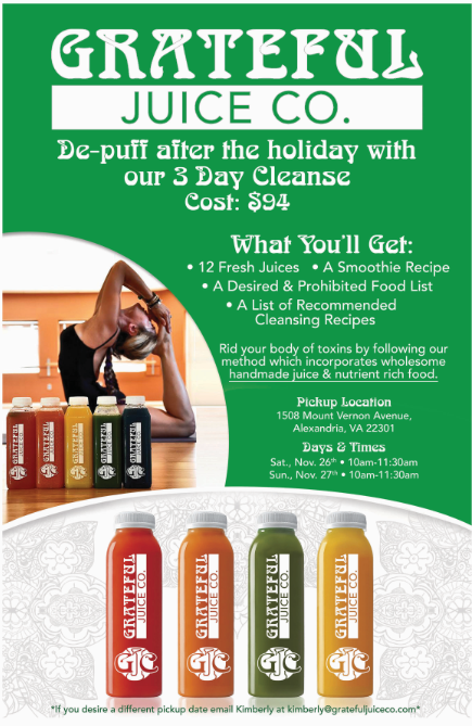 If you are looking for a way to detox your body after stuffing it with turkey, ham, potatoes, casseroles, and pie, a juice cleanse is the perfect way to kick start a new healthy lifestyle or just get you back on track to how you felt before the holidays. (Kimberly Landini)