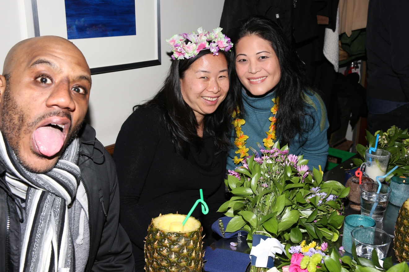Despite the below-freezing weather, the vibe at The Royal on Jan. 10 was decidedly tropical as patrons and bartenders alike said 'Aloha' - the goodbye version - to President Obama. (Amanda Andrade-Rhoades/DC Refined)