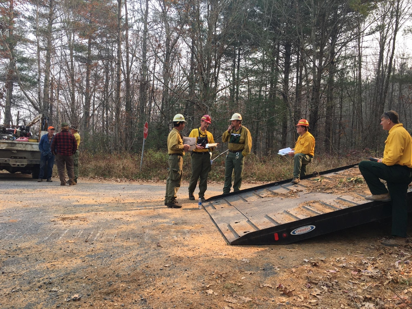 Conditions also helped the Party Rock wildfire grow by nearly 1,000 acres. By Thursday afternoon, it was burning 6,712 acres and 32 percent contained. (Photo credit: WLOS staff)