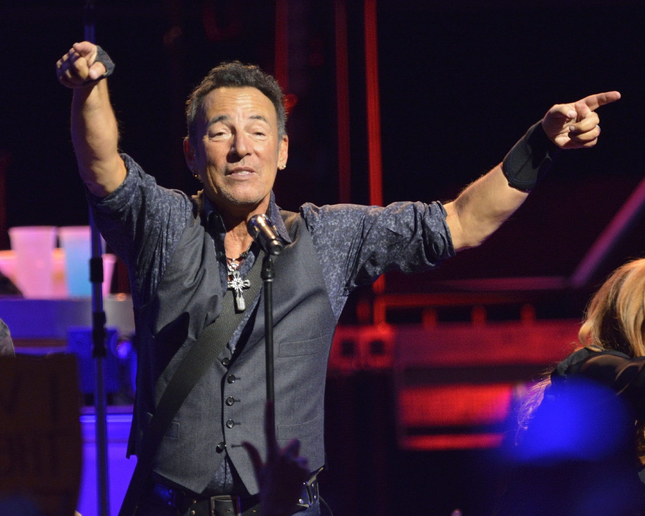 Bruce Springsteen and the E Street Band perform at the Air Canada Centre during The River Tour.  Featuring: Bruce Springsteen Where: Toronto, Canada When: 02 Feb 2016 Credit: Dominic Chan/WENN.com