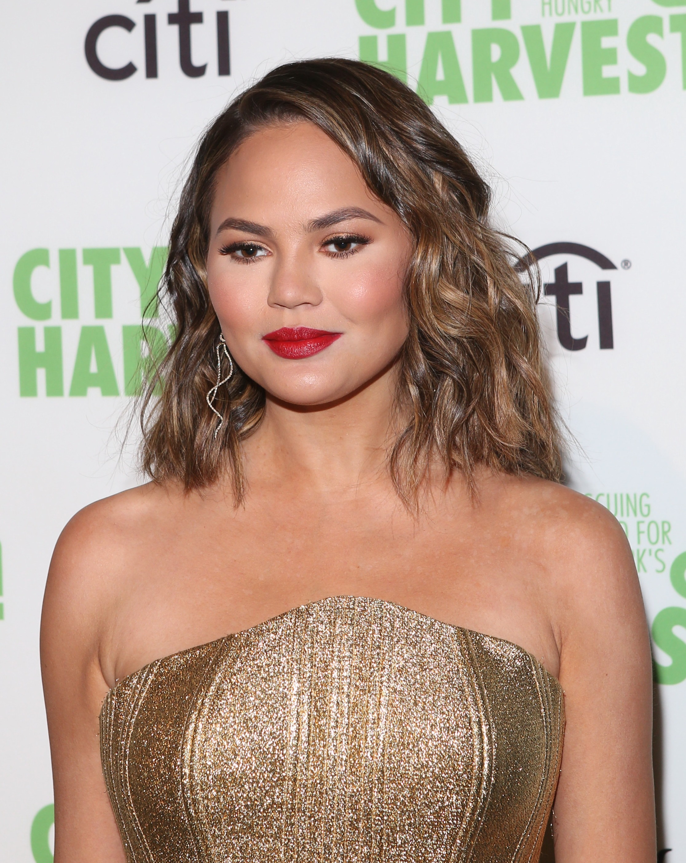Chrissy Teigen among the Celebrities attending City Harvest's 23rd Annual Gala at Cipriani 42nd New York, New York, United States 25 Apr 2017 (Credit: Derrick Salters/WENN.com)
