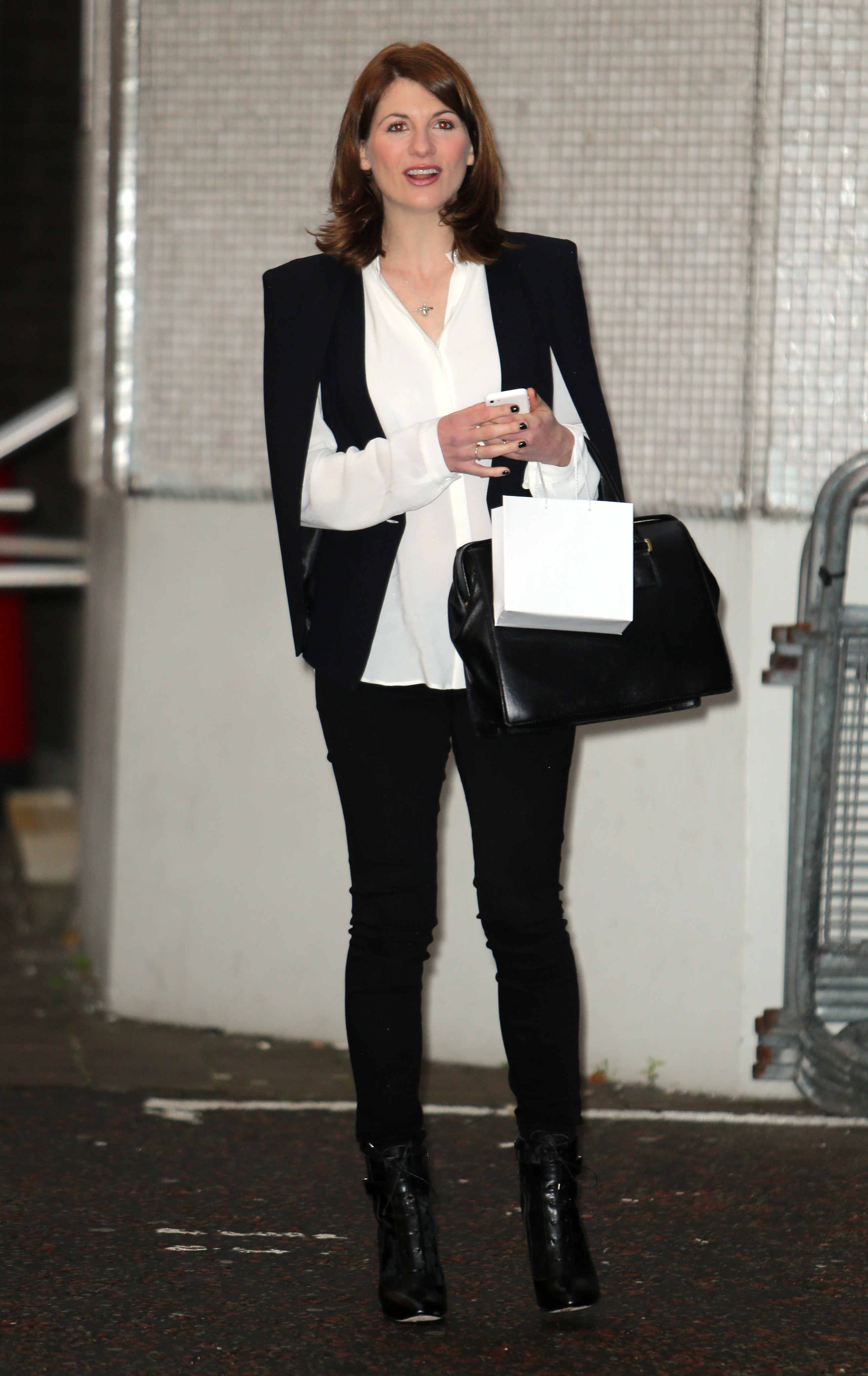 Jodie Whittaker outside the ITV Studios  Featuring: Jodie Whittaker Where: London, United Kingdom When: 04 Dec 2014 Credit: Rocky/WENN.com