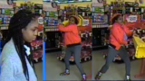 Police: Woman in shower cap assaults employee with wet floor sign during robbery