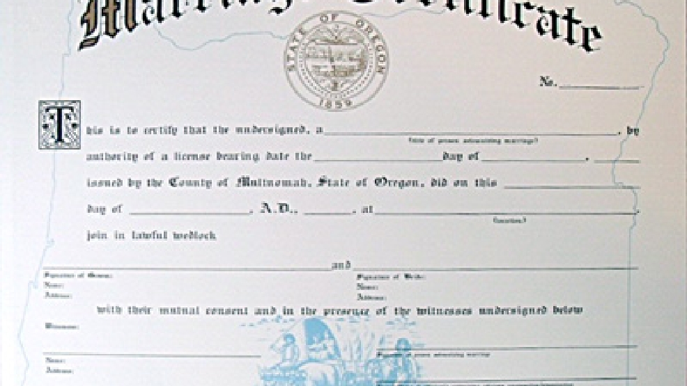 About the Marriage License | Mail Tribune