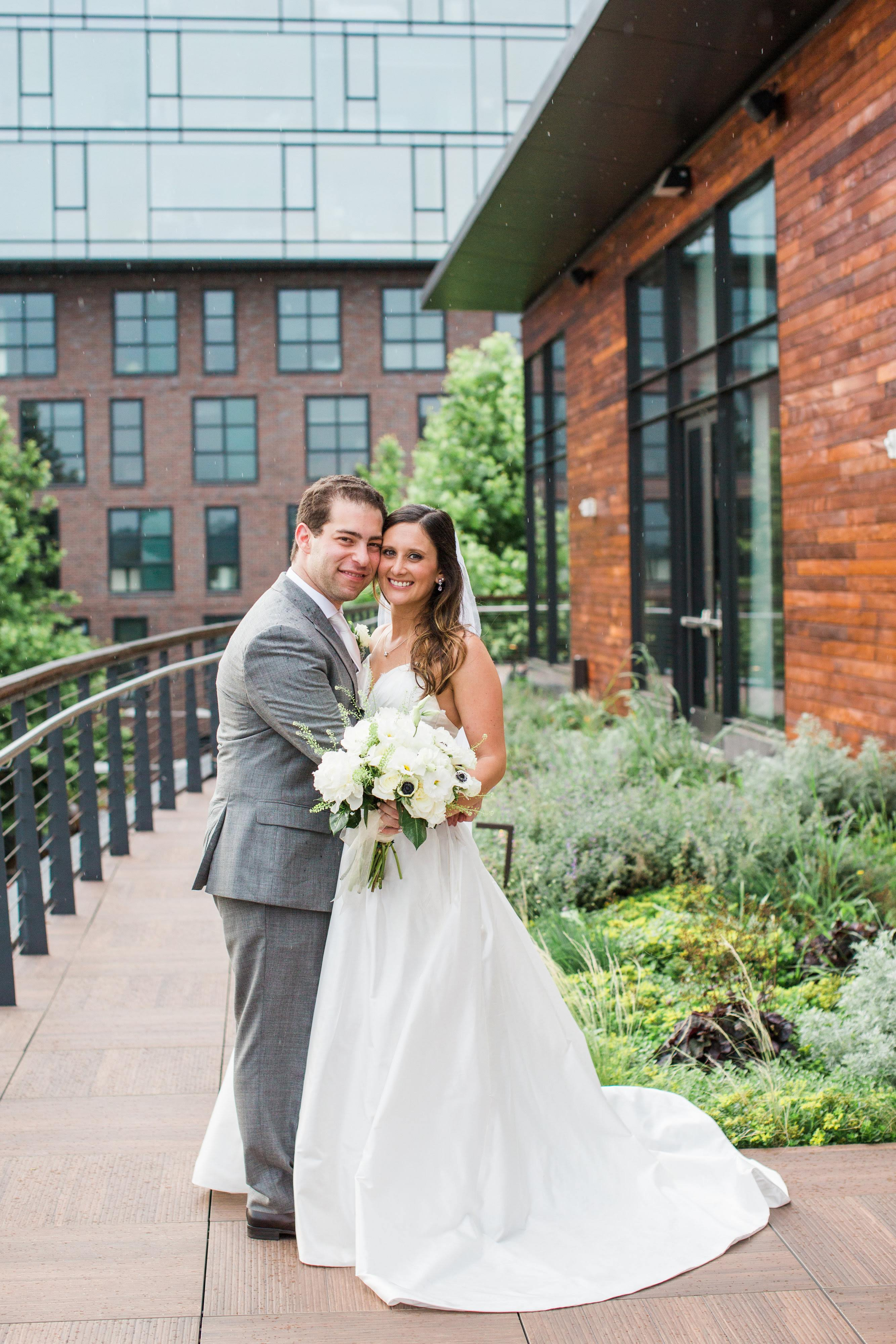The combo indoor/outdoor space that District Winery can offer was exactly what she was looking for. (Image: Birds of a Feather Photography/{ }http://birdsofafeatherphotos.com){ }