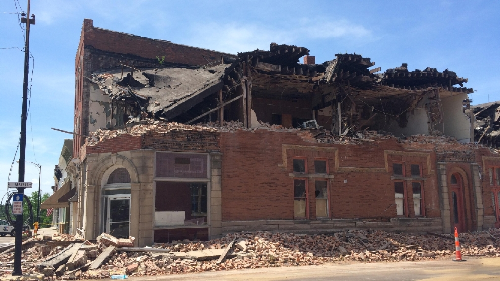 heartland city begins its historic building demolition