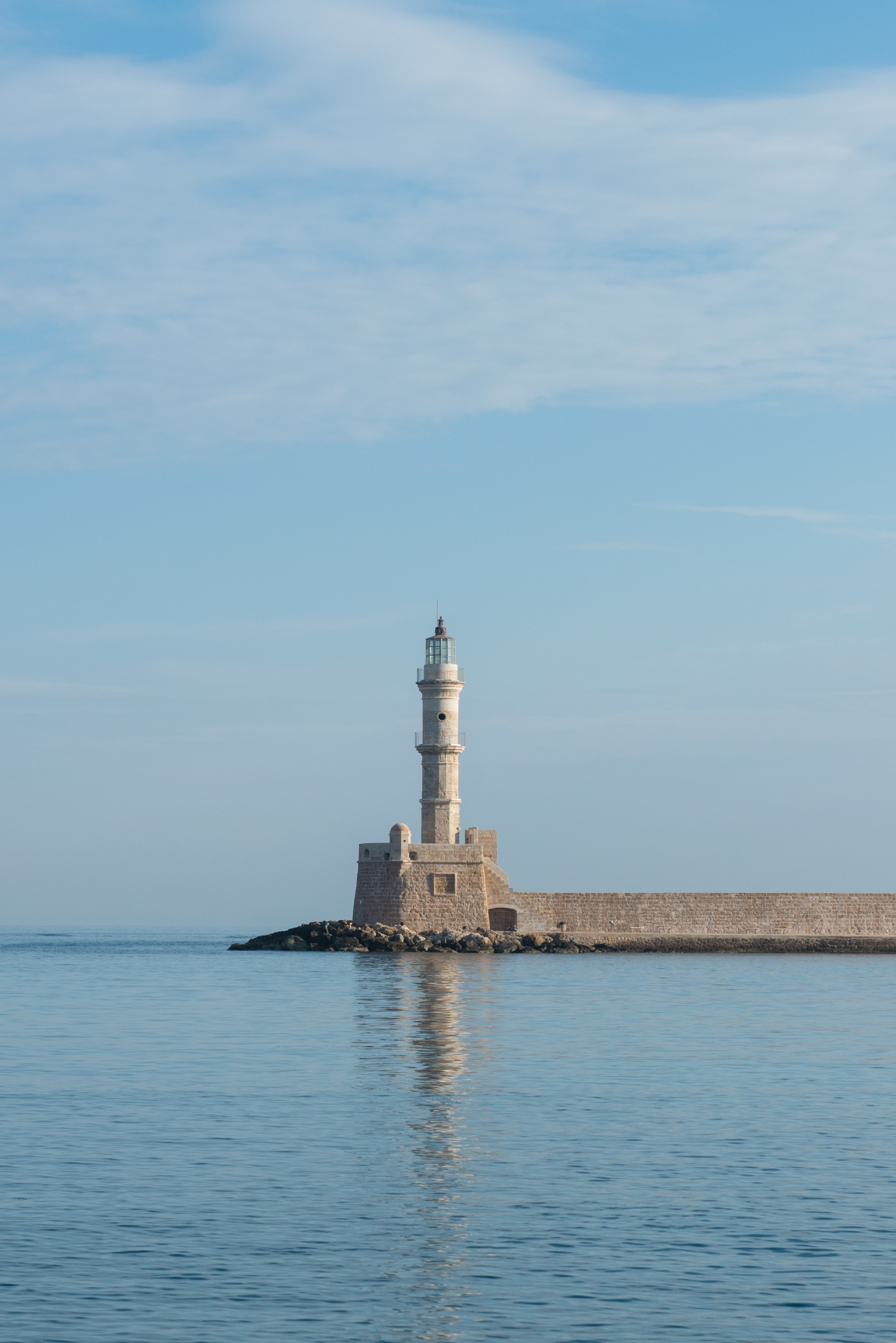 The lighthouse along the water in Chania.  Seattle Refined writer and photographer Chona Kasinger spent the better part of a week in Crete,  an island of truly unparalleled beauty. From the pink sands of Elafonisi Beach to the rocky paths of Samaria Gorge and Venetian harbor of Chania, here's a look at 54 totally not photoshopped photos of Crete in all its Grecian glory. (Image: Chona Kasinger / Seattle Refined)