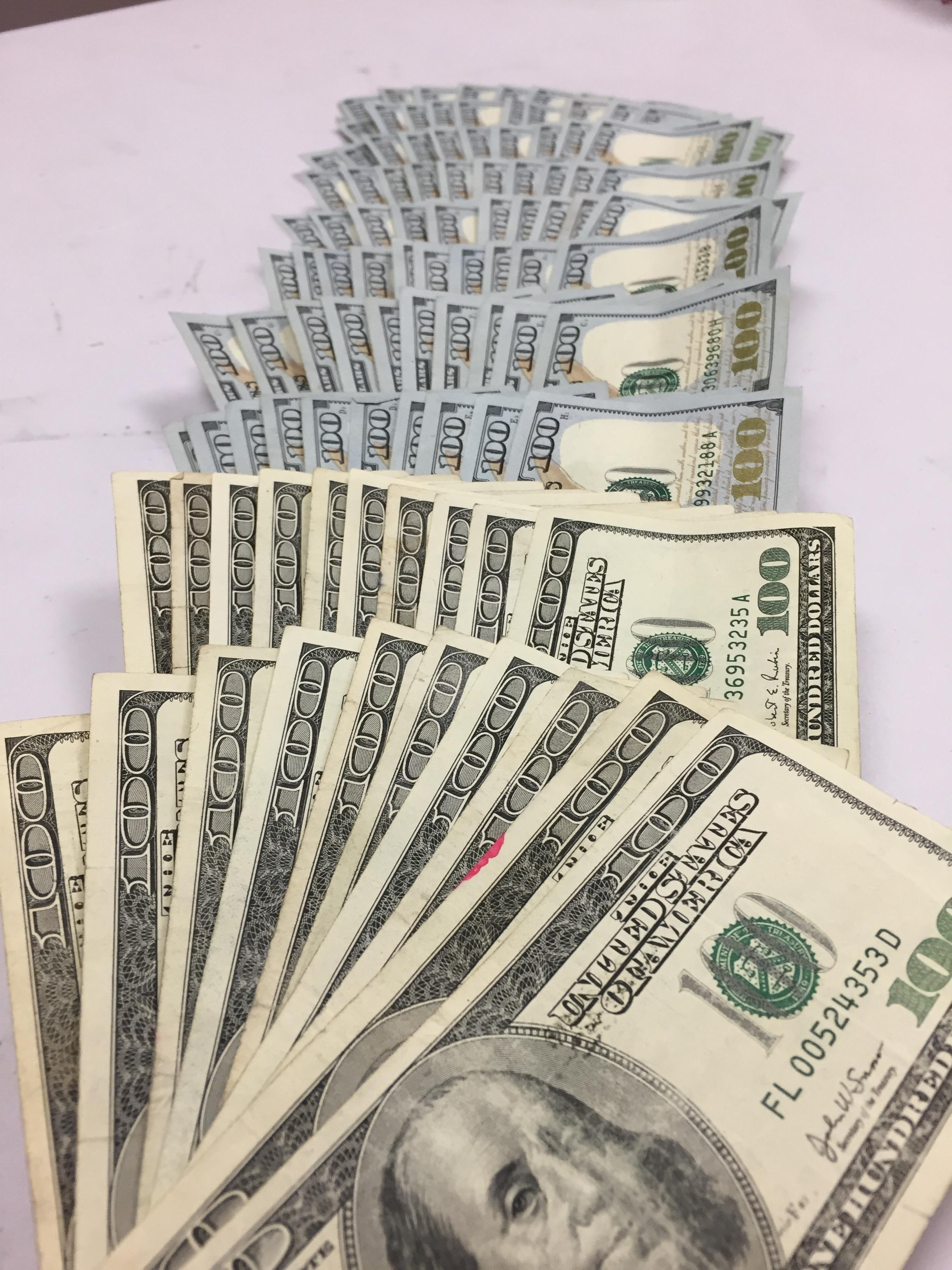 The Salvation Army says someone donated one-hundred $100 bills at a Fred Meyer red kettle in Portland. Photo courtesy Salvation Army