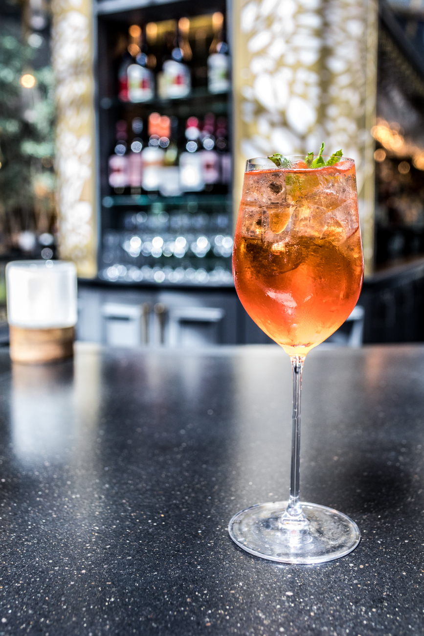 Taft Toast: Aperol, prosecco, watermelon, and mint / Image: Catherine Viox{ }// Published: 6.22.20