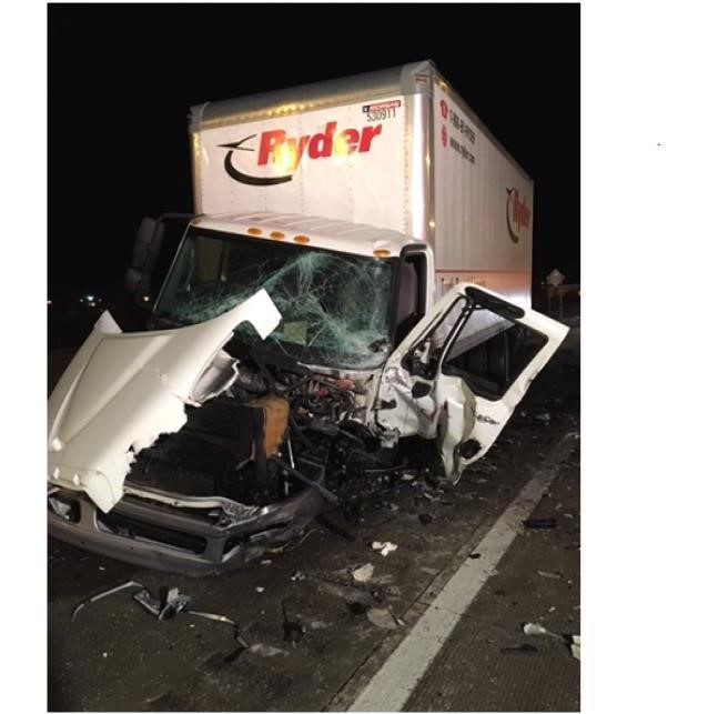 Emergency crews were on the scene of a deadly accident on Interstate 75 in Saginaw County. (Photo courtesy of Michigan State Police)