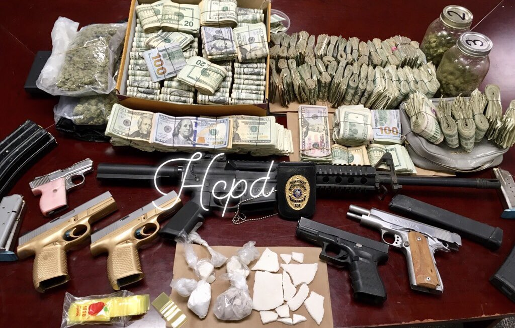 HCPD arrests three on drug charges. (HCPD photo)