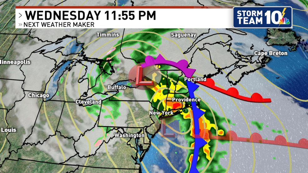 Heavy rain and gusty winds arrive Wednesday night