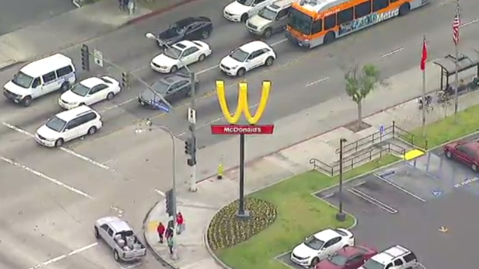 California McDonald's flips golden arches in support of ...