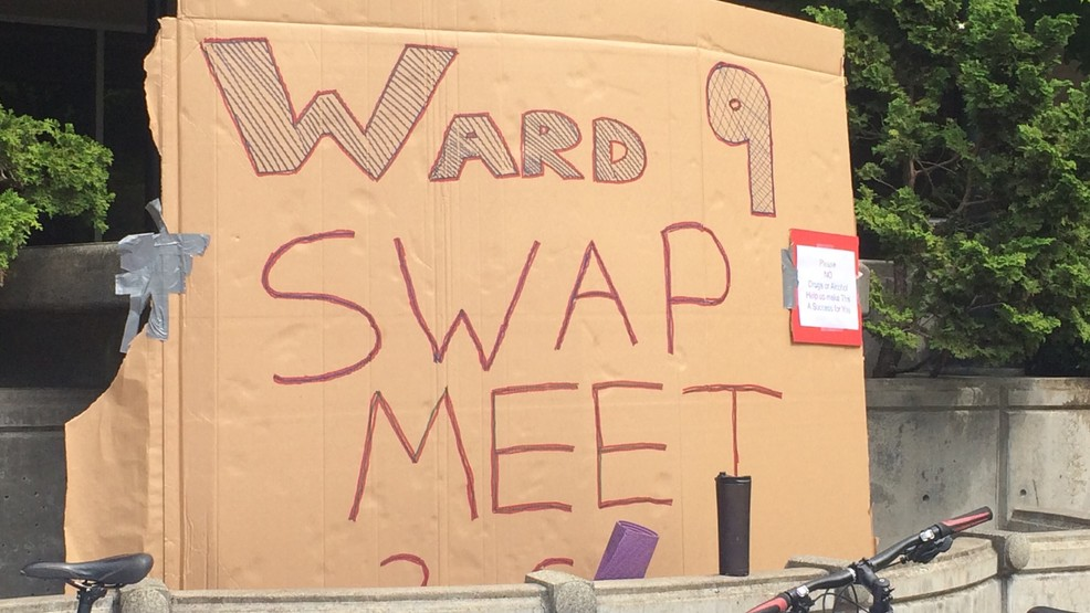 Buy and trade swap meet takes over Free Speech Plaza in Downtown