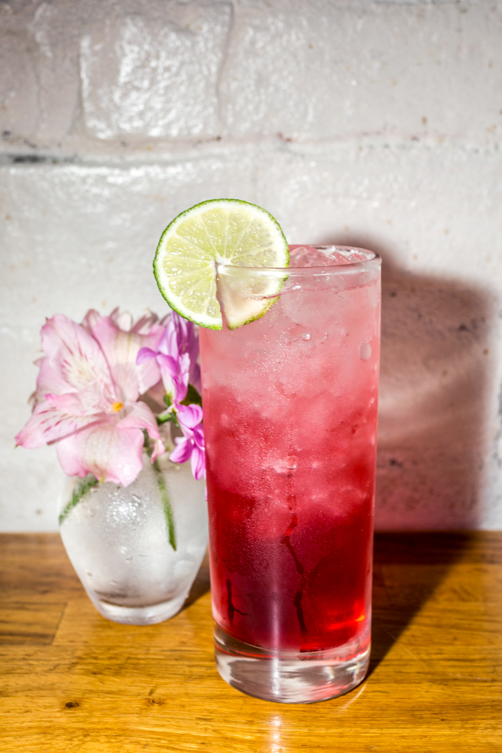 Strawberry ginger hibiscus punch with tequila / Image: Catherine Viox // Published: 9.30.19