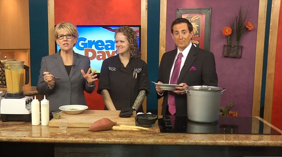 Chef McKinzie Klein from Max's Bistro & Bar visited the Great Day Kitchen to prepare some delicious food.