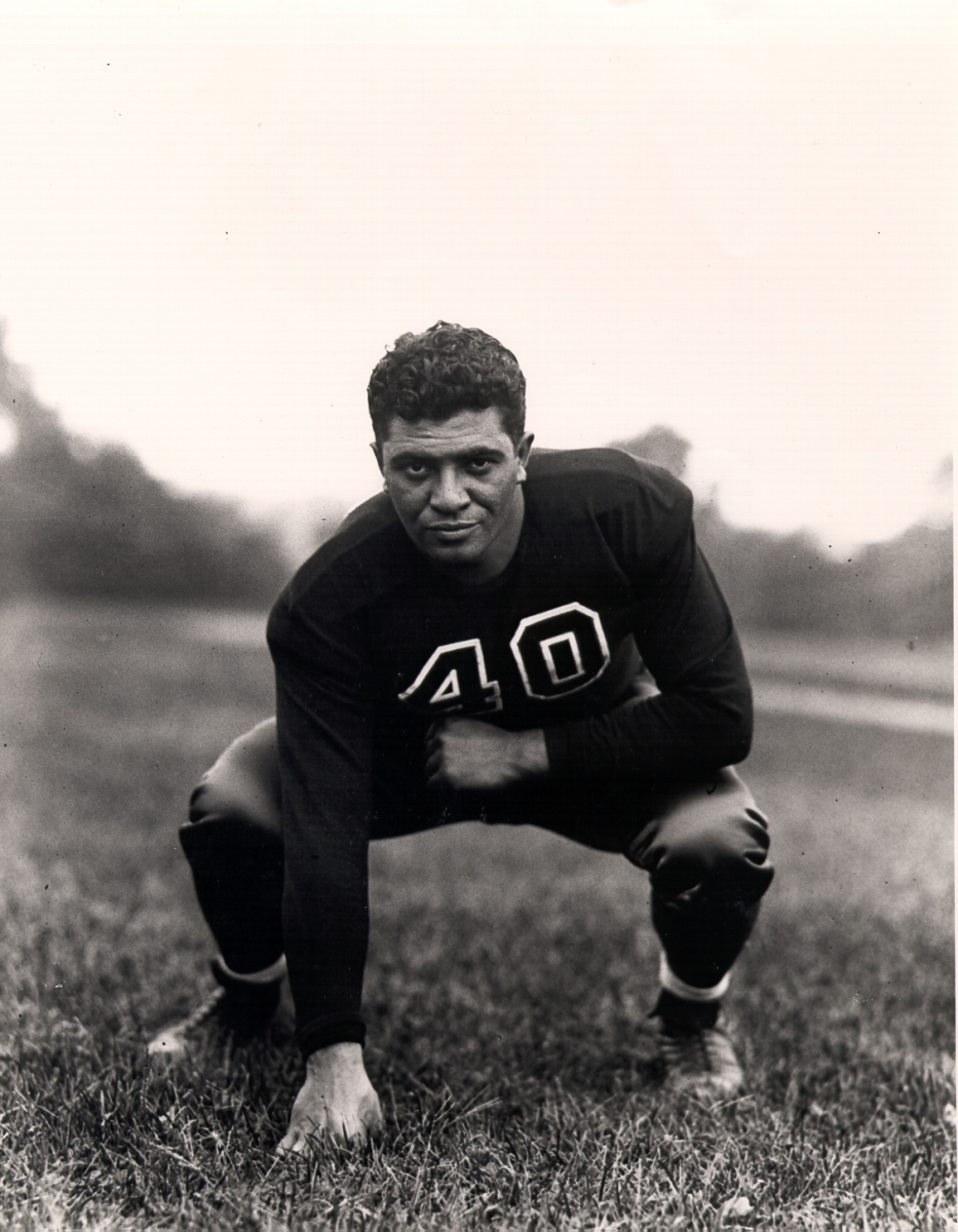 A guard, Lombardi played for coach Jim Crowley, one of the Four Horsemen of Notre Dame in the 1920s. (Courtesy Fordham University)