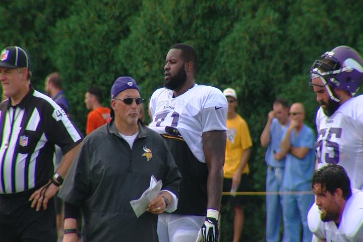 Former Bengals offensive tackle Andre Smith left as a free agent after the 2015 season and signed with the Minnesota Vikings. (WKRC/Matt Alexander)