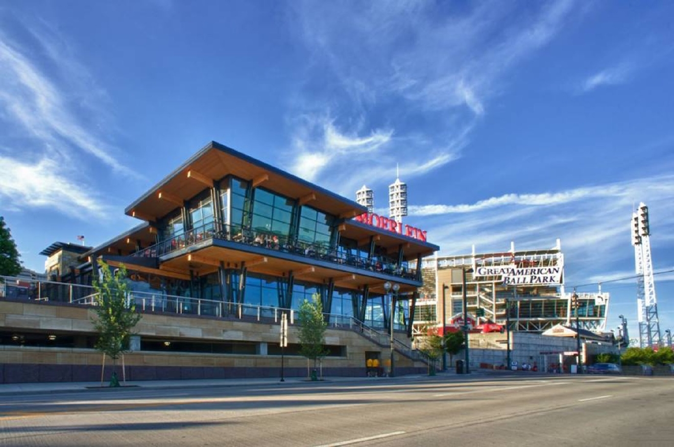 Moerlein Lager House -- located in The Banks at 115 Joe Nuxhall Way (45202). / Image courtesy of Moerlein Lager House