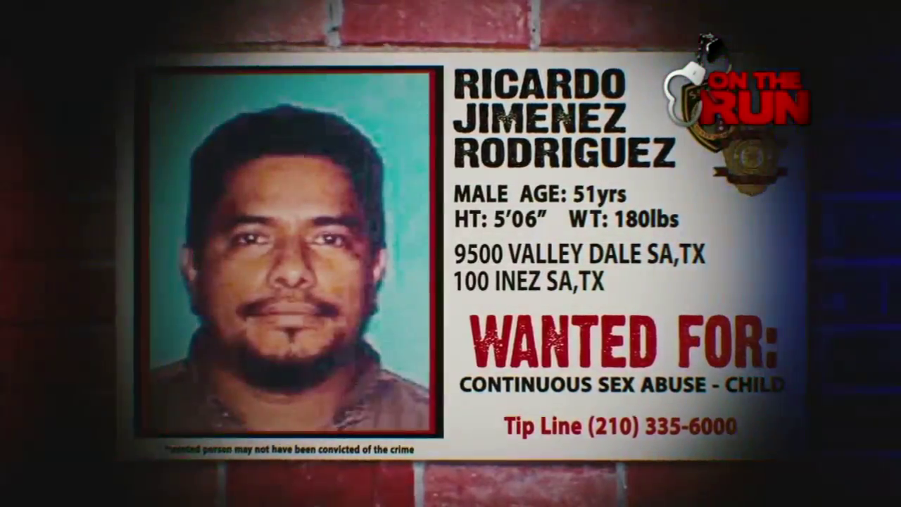 If you have any information on Ricardo Jimenez Rodriguez you can call the Bexar County Sheriff's Office at 210-335-6000.
