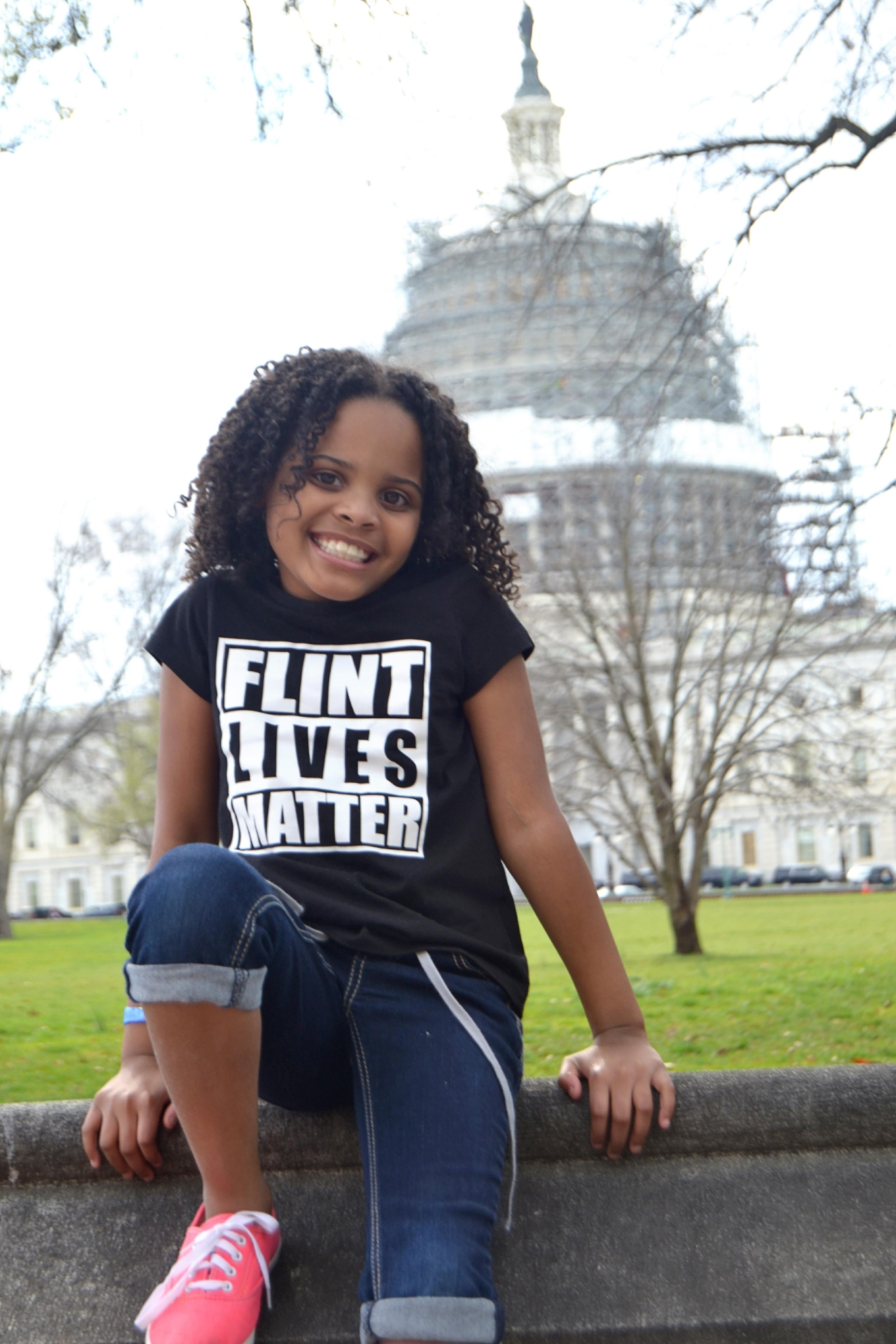 Eight-year-old Amariyanna Copeny wrote a letting to President Obama about Flint water, prompting a visit from the president. (Courtesy LuLu Brezzell)