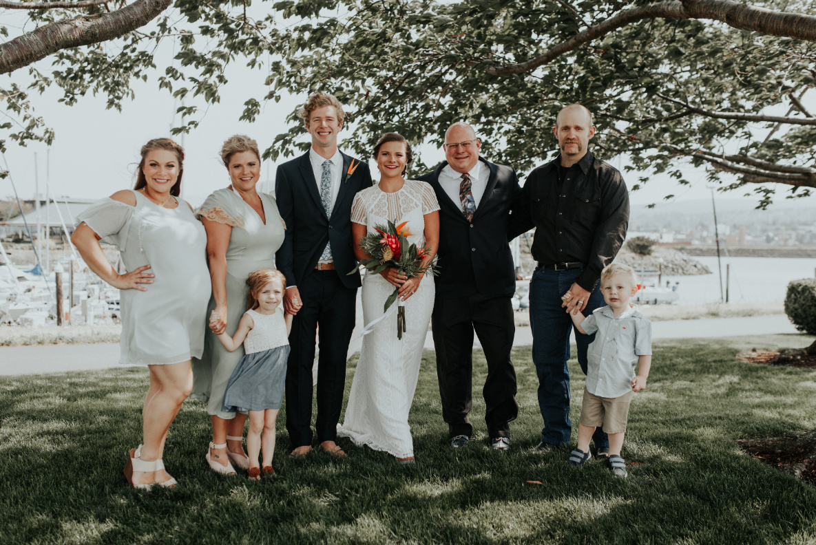 Bailey and Bjorn were married on August 12th, 2017.  Florals done by Alison Wiebe. (Image courtesy of Cody Stacy / Cody Stacy Photography)