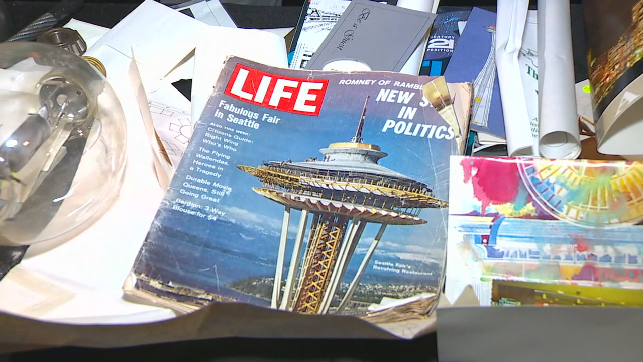 Items found inside a 1982 time capsule inside the Space Needle{ }(KOMO Photo)