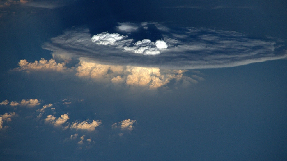 Astronaut captures incredible photo of thunderstorm from space