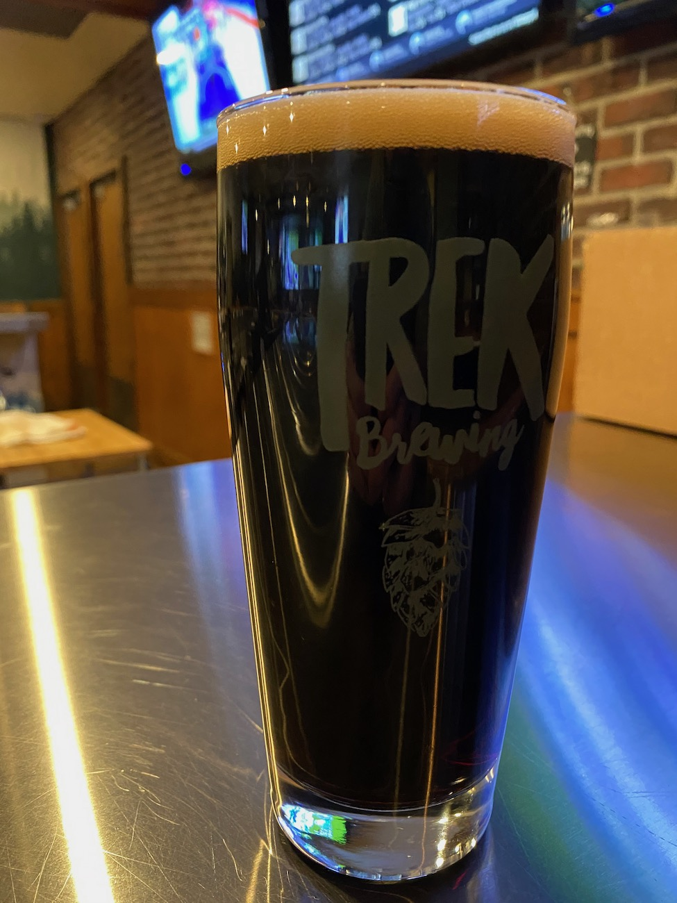 Pictured is the fabulous Trail Magik vanilla stout at Trek Brewing Company. There are several local breweries within Licking County, which has a beverage trail guide of local breweries, wineries, and coffee and soda shops. ADDRESS: 1486 Granville Road, Newark, OH (43055) / Image: Chez Chesak{ }// Published: 2.12.21