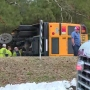 School bus with 23 students on board overturns in Dinwiddie
