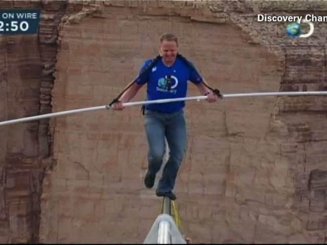 Nik Wallenda is just steps away from setting a record.