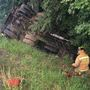 Medical helicopter called to overturned semi in Ripley County