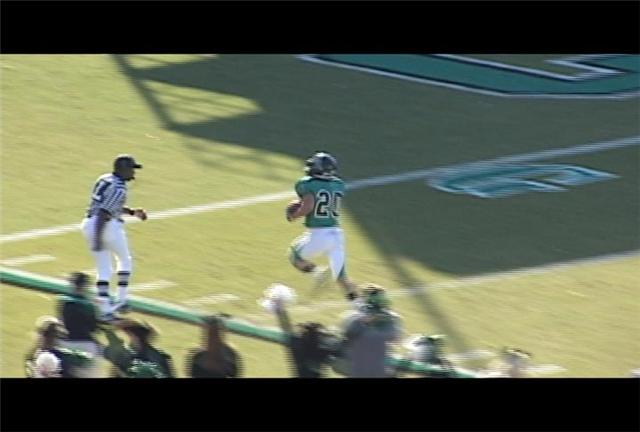 Freshman Niccolo Mastromatteo had 125 return yards including this 91 yard punt return for a TD in CCU's rout over Charleston Southern.