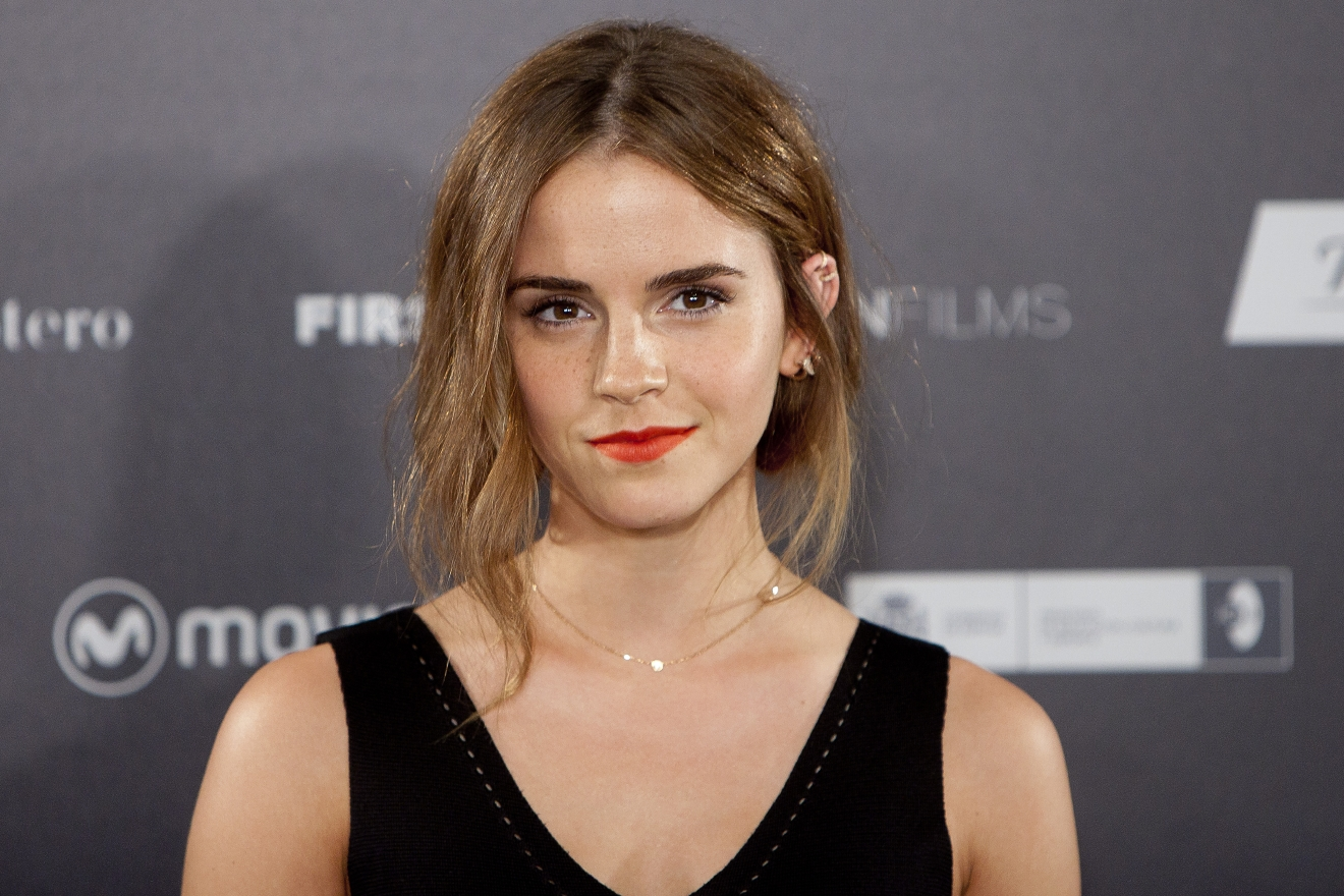 "Emma Watson appears at a screening for the film ""Regression"" in Madrid, Spain, on Aug. 27, 2015. (Photo credit: AP Photo/Abraham Caro Marin, File.)"