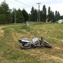 State Patrol: 'Lucky' motorcyclist unhurt after 120-mph crash into hayfield